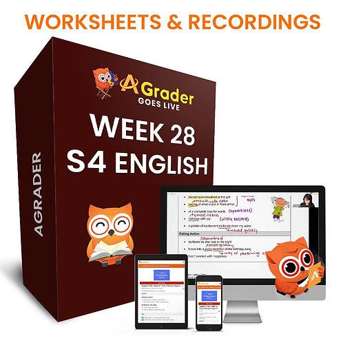 S4 English (Week 28) - Oral Communication