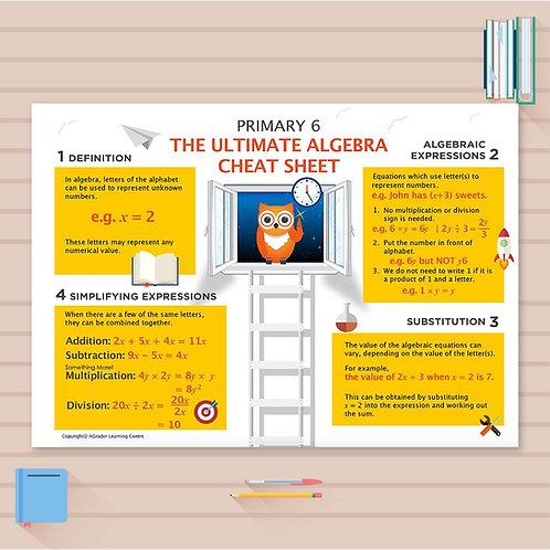 P6 Math Cheat Sheet - Algebra