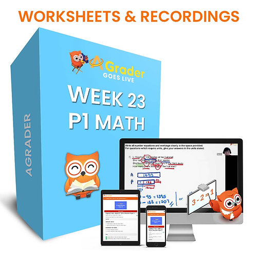 P1 Math (Week 23) Term 2 Revision Paper 3