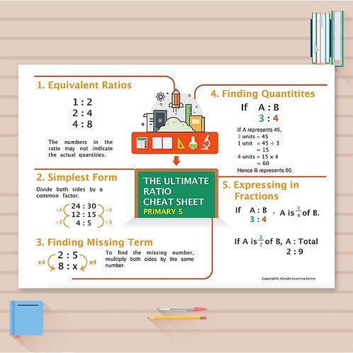 P5 Math Cheat Sheet - Ratio