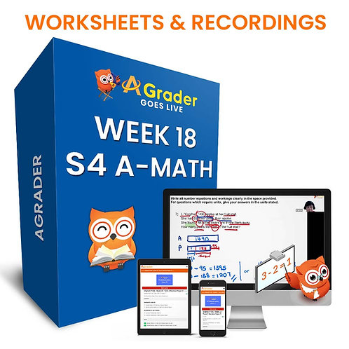 S4 A-Math (Week 18)- Topic 1.4: Rate of Change