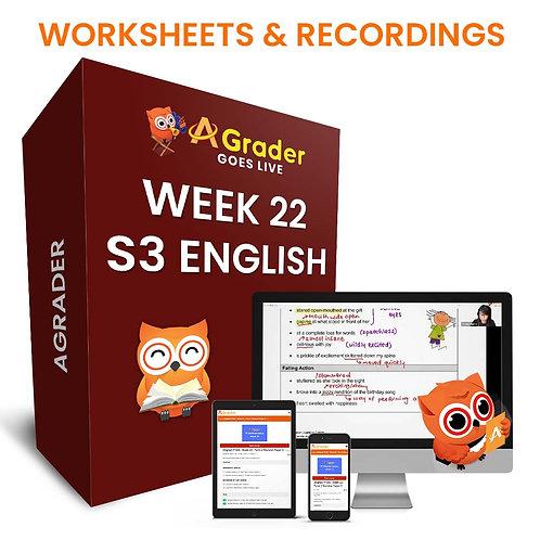 S3 English (Week 22) - Component: Narrative Comprehension