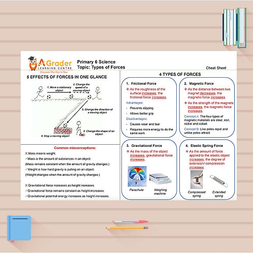 P6 Science Cheat Sheet - Types of Forces