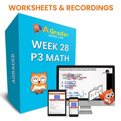 P3 Math (Week 28) - Topic 11: Bar Graphs