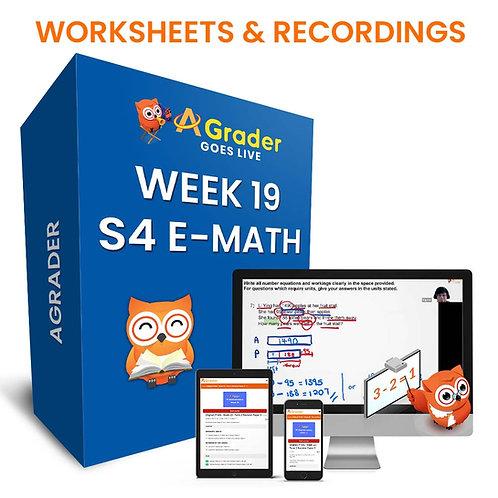S4 E-Math (Week 19)- Topic 6: Kinematics