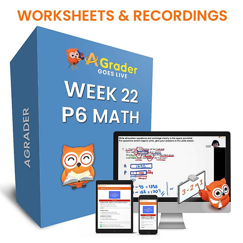 P6 Math (Week 22) - Term 2 Revision Paper 3