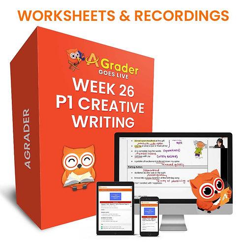 P1 Creative Writing (Week 26) Theme: Keeping a Pet