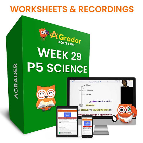 P5 Science (Week 29) - Term 3 Revision Paper 1