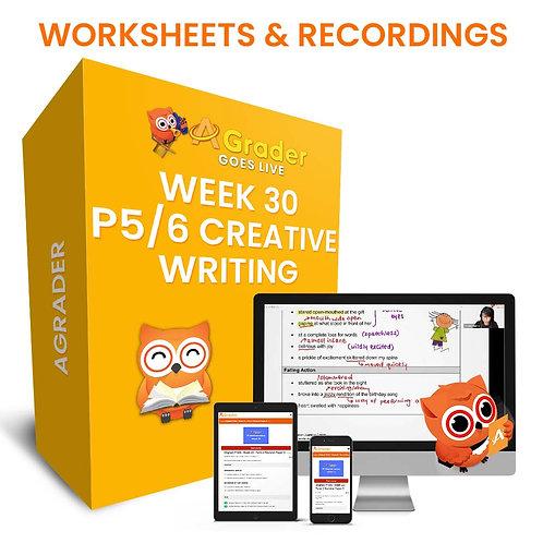 P5/6 Creative Writing (Week 30) - Theme: A Fearful Situation