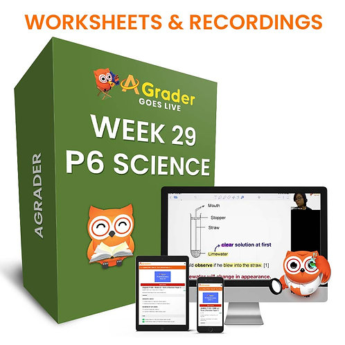 P6 Science (Week 29) - PSLE Revision Paper 4