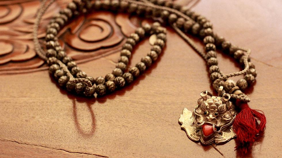 Silver Dragon Pendant Necklace