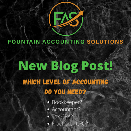 Which Level of Accounting Do You Need?