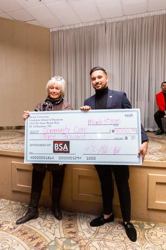 BSA Goodman Gala Community Care Donation