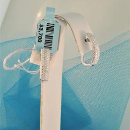 White gold pave hoop earrings
