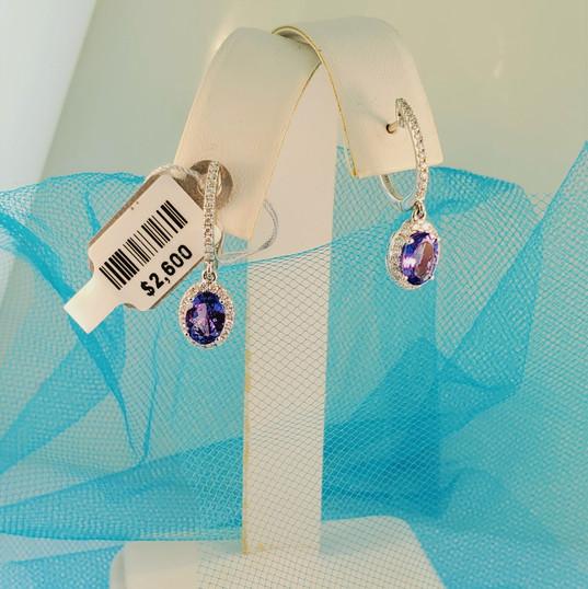 Tanzinite drop earrings