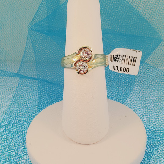 "2 diamond ""Me and You"" ring"