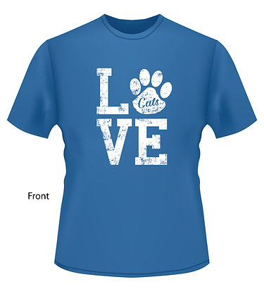 LOVE w/Paw (Wildcat for Life) - BLUE