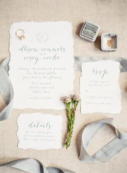 Calligraphy Wedding Invitation