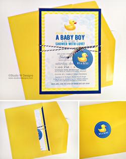 Rubber Ducky Themed Invite