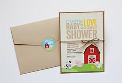 Barnyard Babies Baby Shower Invite