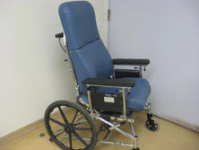 Blue high back wheelchair