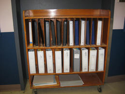 Wood binder cart