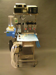 Anesthesia Machine with BG monitors