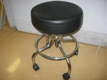 Black leather stool 2