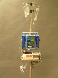IV pump with syringe pump