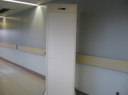 Modern roll up cabinet with medical supplies
