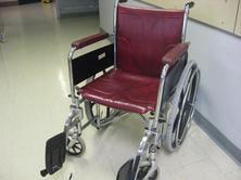 Burgundy wheelchair