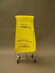 Yellow soiled linen cart