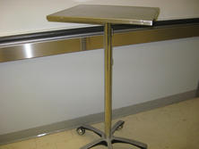 Stainless steel mobile laptop table