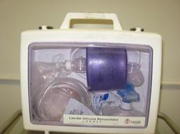 Resuscitator in a white case