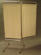 Cream colour with stainless steel frame