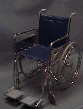 Older blue wheelchair