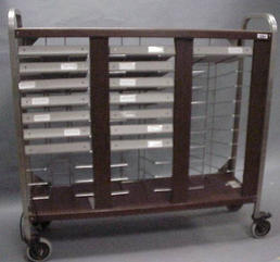 Older wood binder cart