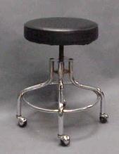 Black leather stool 1