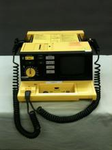 Yellow defibrillator