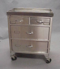 Stainless steel four drawer cart