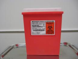 Large red needle dispenser