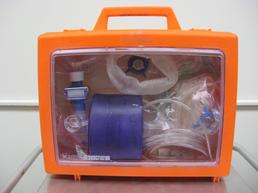 Resuscitator in a orange case