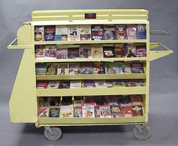 Yellow book cart