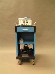 Cautery machine with blue cart