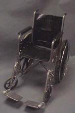 Black (wider seat) wheelchair