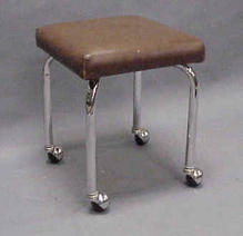 Brown leater stool