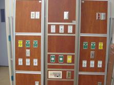 Brown wood oxygen panels
