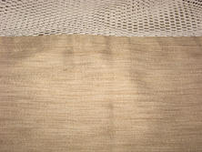 Taupe privacy curtains