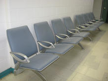 Modern blue waiting rooms benches