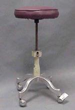 Purple leather stool 1